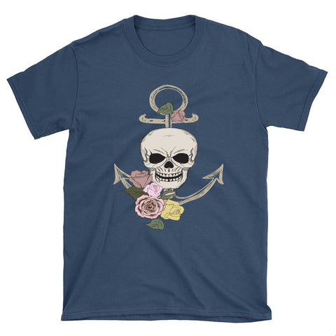 Skull and Anchor Unisex T-Shirt - Spangle