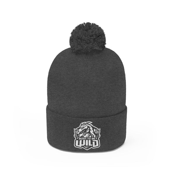 Born To Be Wild Pom Pom Beanie - Spangle