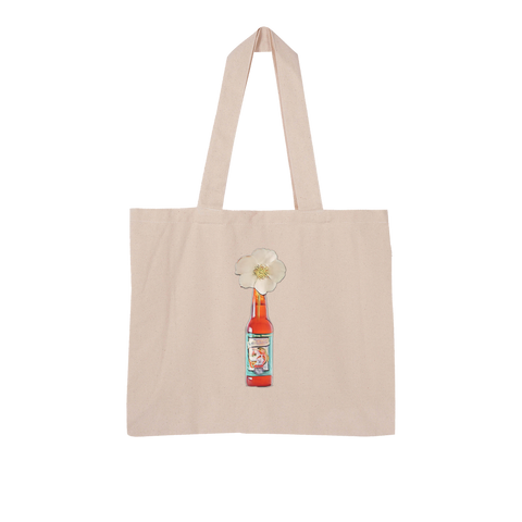 Cherokee Rose in Beer Bottle Large Organic Tote Bag - Spangle
