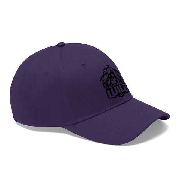 Born To Be Wild Black Logo Unisex Twill Hat - Spangle