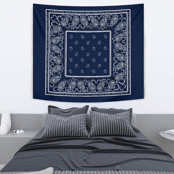 StreetTaps Navy Blue Bandana Tapestry - Spangle