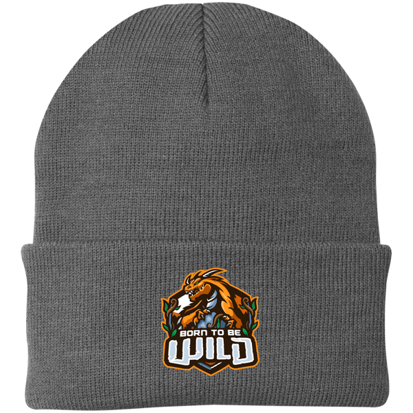 Born To Be Wild Logo Knit Cap - Spangle