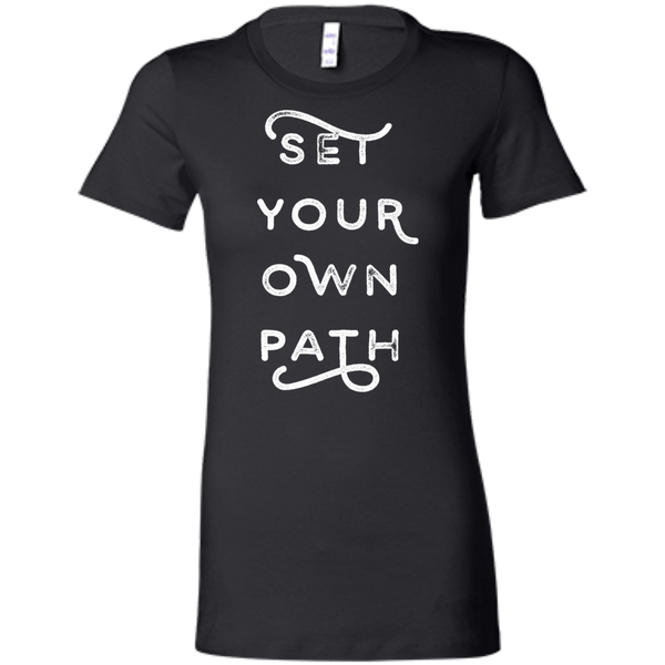 Set your own path, Ralph Waldo Emerson inspired Ladies' Favorite T-Shirt - Spangle