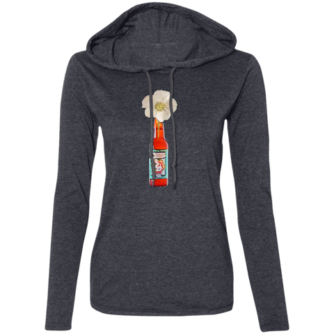Cherokee Rose Ladies' LS T-Shirt Hoodie - Spangle