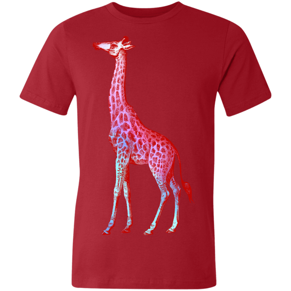 Wild Neon Pink Giraffe Unisex Made in the USA Jersey Short-Sleeve T-Shirt - Spangle