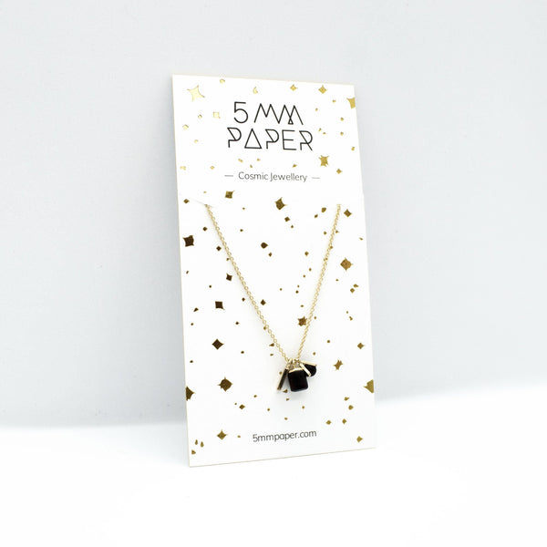 Gold Necklace - Triple Tiny Charm - Spangle
