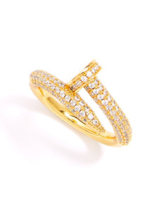 Dolly Crystal Nail Ring - Spangle