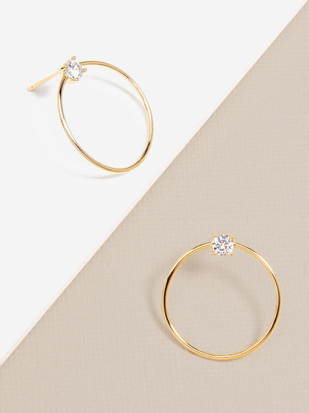 Baby Hoop with Crystal Stud Earring - Spangle