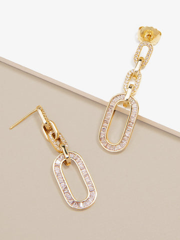 Carole Crystal Link Drop Earring - Spangle