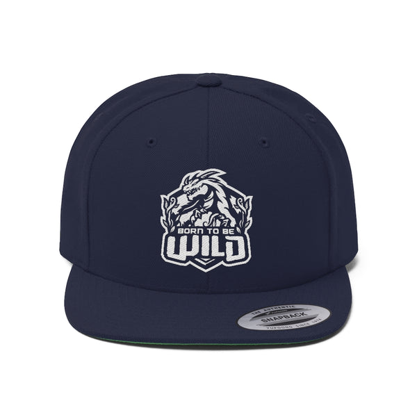Born To Be Wild Unisex Flat Bill Hat - Spangle
