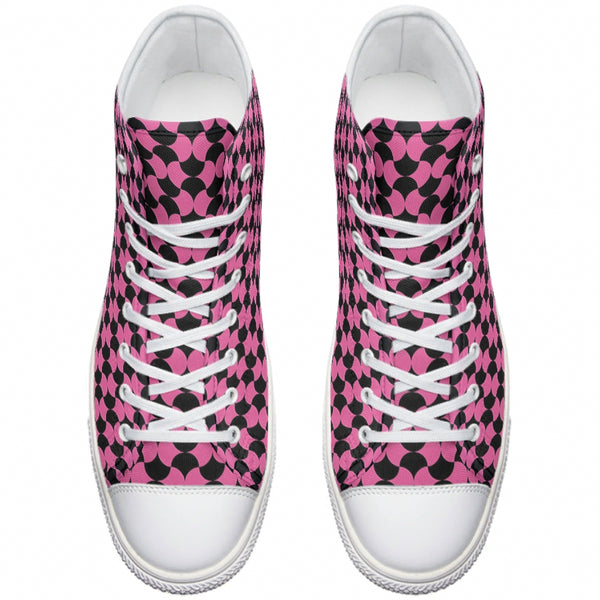 Pink and Black Canvas Sneakers - Spangle