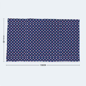 "Navy and Coral Soft and Comfortable Bath Towel 35"" x 59"" Printed Beach Towel - Spangle"