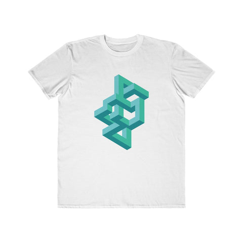 Abstract Geometric Design Unisex/Men's Lightweight Fashion Tee - Spangle