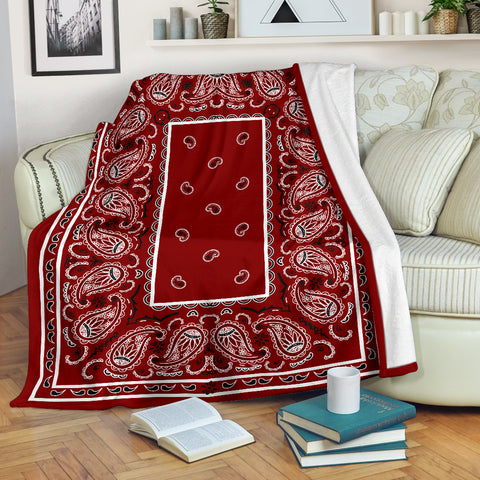 Ultra Plush Maroon Bandana Blanket - Spangle