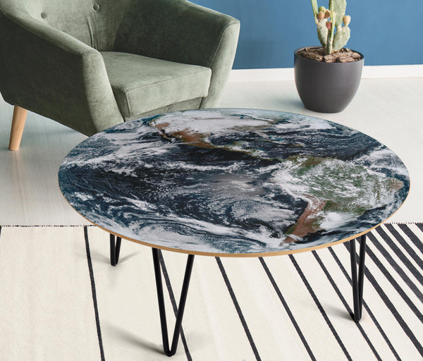 Earth: Storms Over America Round Coffee Table - Spangle
