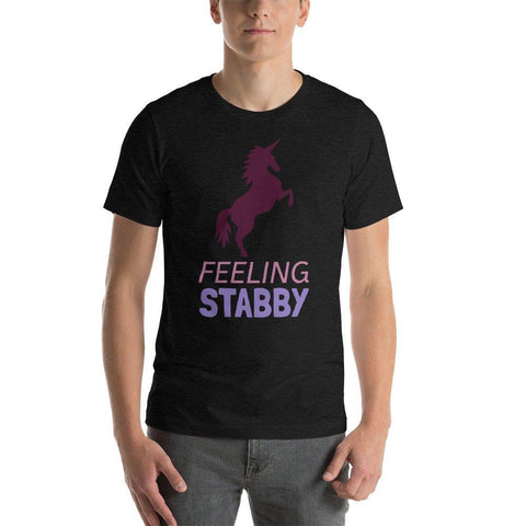 Funny Unicorn Shirt, Feeling Stabby, Spangle Custom Tees - Spangle