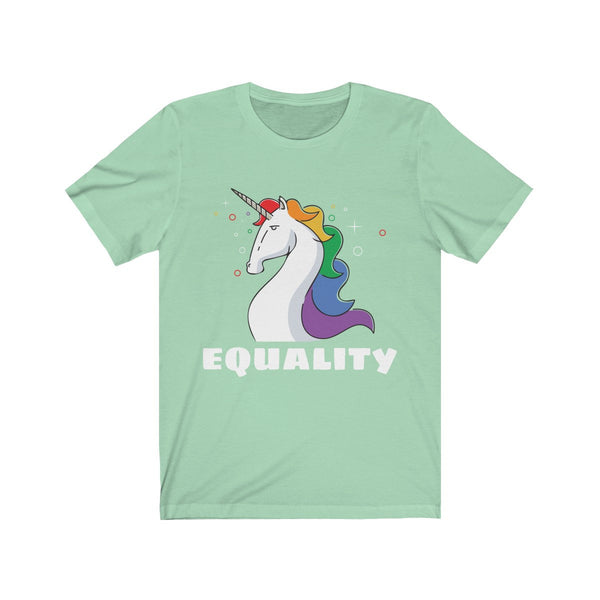 Equality Unicorn Lgbtq Unisex Jersey Short Sleeve Tee - Spangle