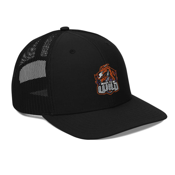 Born To Be Wild Logo Snap Back Trucker Cap - Spangle