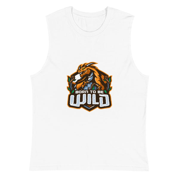 Born To Be Wild Logo Men's Muscle Shirt - Spangle