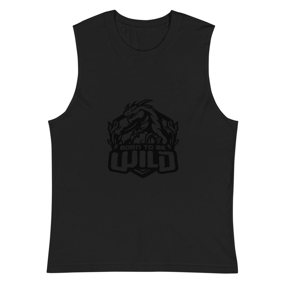 Born To Be Wild Black Logo Men's Muscle Shirt - Spangle