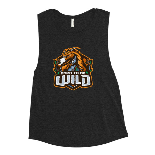 Born To Be Wild Logo Women's Muscle Tank - Spangle