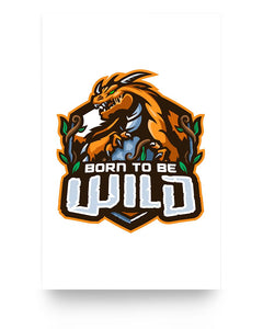 Born To Be Wild Logo 11x17 Poster (Matte) - Spangle