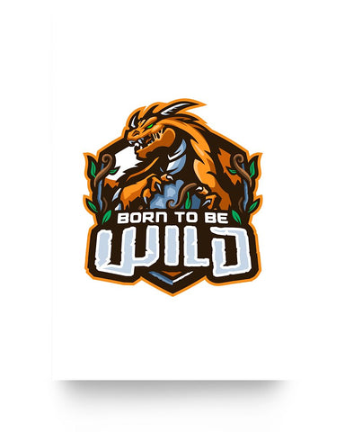 Born To Be Wild Logo 16x24 Poster (Glossy) - Spangle