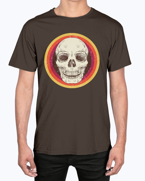 Retro Skull Comfort Colors Ringspun Unisex T-Shirt - Spangle