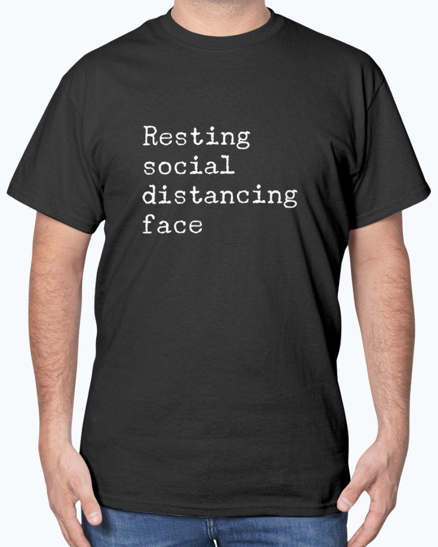 Resting Social Distancing Face Men's/Unisex Shirt - Spangle
