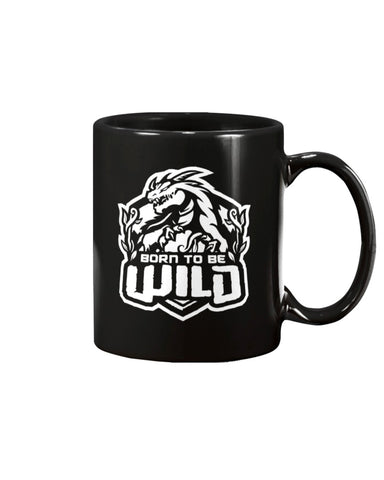 Born To Be Wild White Logo 15oz Mug - Spangle