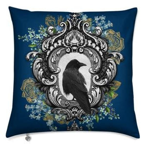 """Nevermore"" Raven Pillow Cover - Spangle"