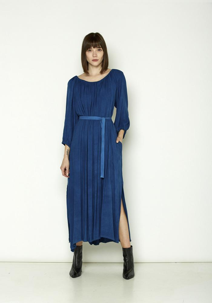 Miranda Bennett long-sleeve  indigo Cassatt Dress
