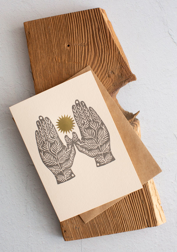 Letterpress Roots Greeting Card