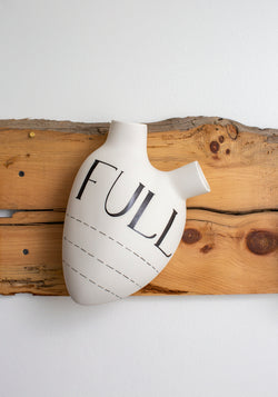 'Full' Porcelain Anatomical Heart Wall Vase