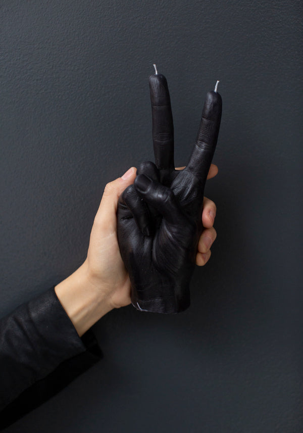 Victory Hand Gesture Candle