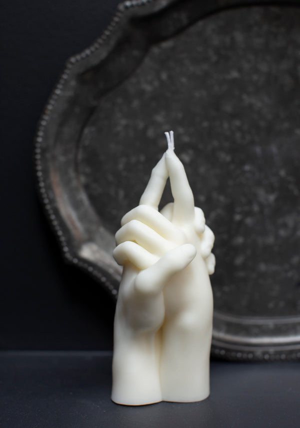"White ""Us"" Candle"