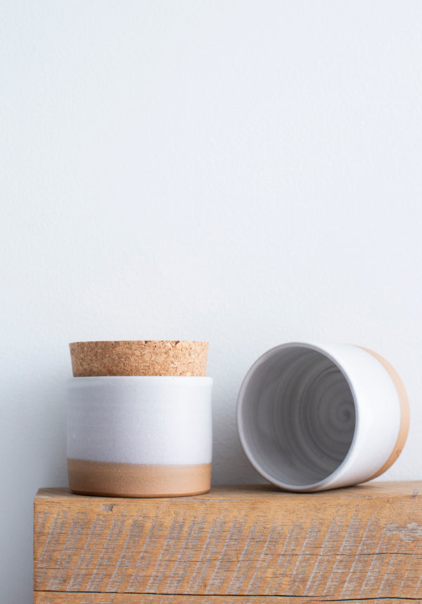 Matte White Salt Jar