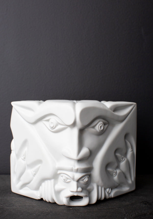The Good and The Evil Gargoyle Porcelain Sculpture