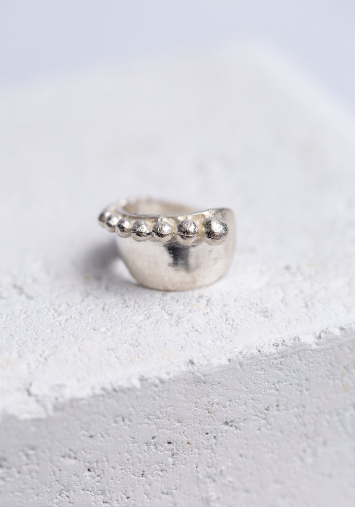 Aziza Sterling Silver Nazil Cuticle Sister Ring