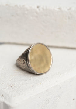 Large Yellow Gold Circle Ring - December Thieves