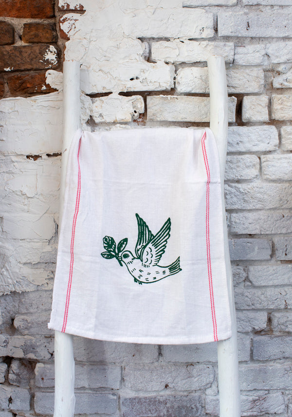 Peace Dove Tea Towel