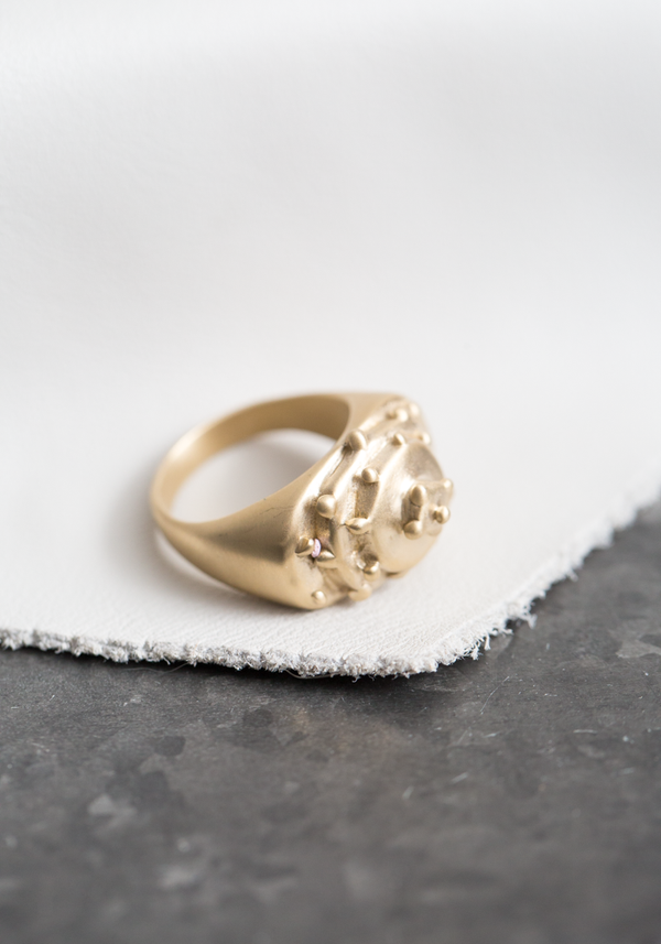 Brass Nazar Ring