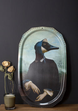 Madame Bernache Ellipse Wall Tray