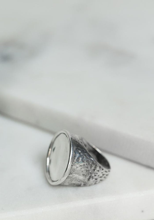 Simona Tagliaferri small silver circle ring