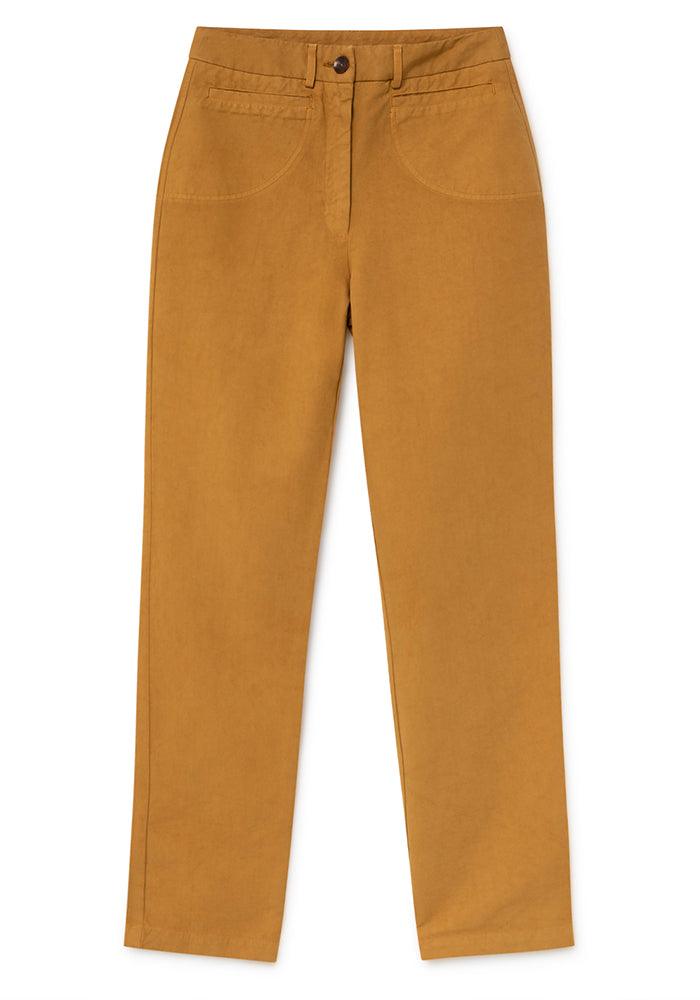 Cotton Pants In MUSTARD Only