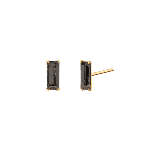 PENDIENTES BAGUETTE MINI BLACK GOLD