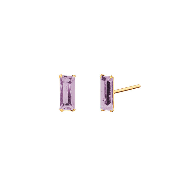 PENDIENTES BAGUETTE PURPLE GOLD
