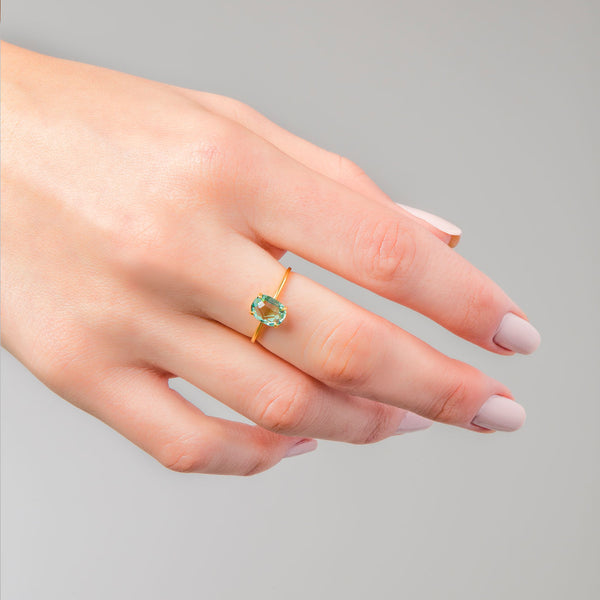 ANILLO BEATRIZ GREEN GOLD