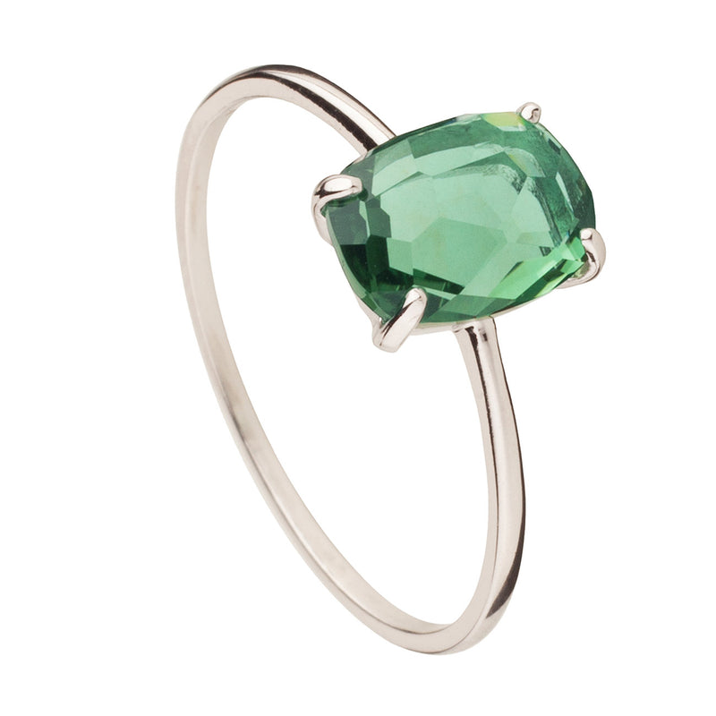 ANILLO BEATRIZ GREEN SILVER