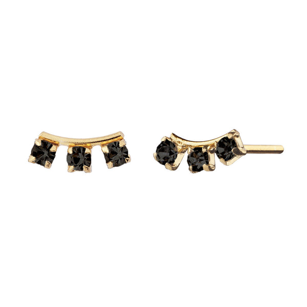 PENDIENTES ELVIRA BLACK GOLD